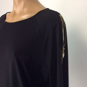 New Anne Klein Black Top with Gold key holes